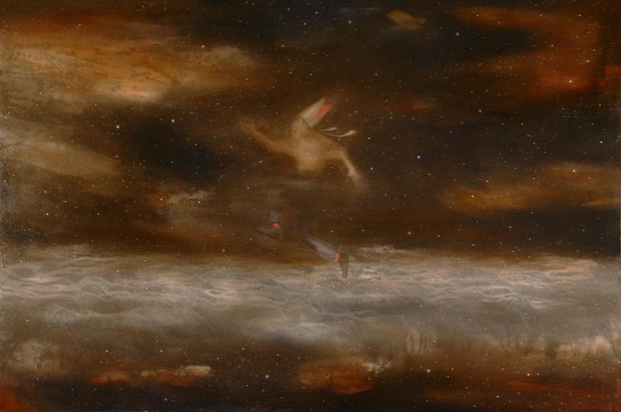 Gemiti inesprimibili, 2013, 100 x 150 cm, olio su tela