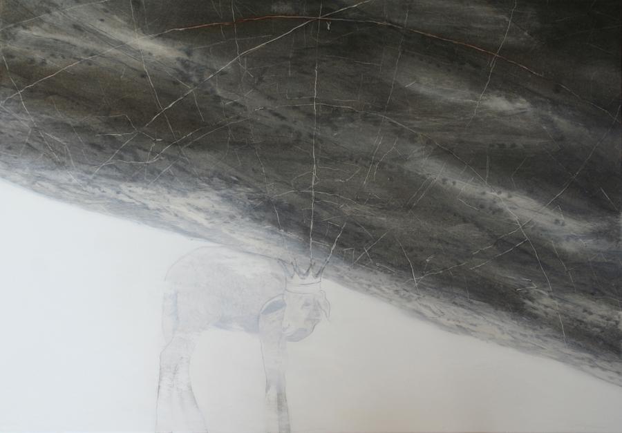 Coordinate escatologiche, 2014, 70 x 100 cm, olio su tela
