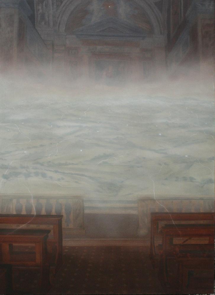 Totalmente Altro, 2004, 180 x 130 cm, olio su tela