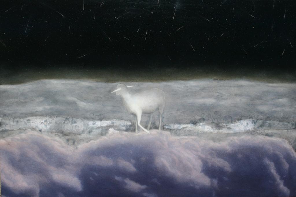 Parusia, 2012, 100 x 150 cm, olio su tela