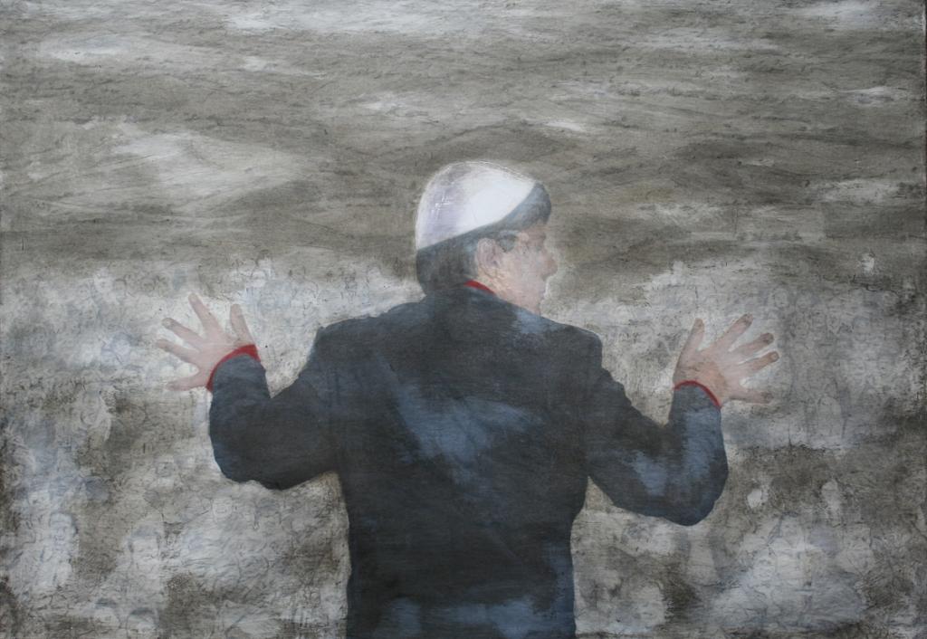 """""""Kathéchon 2"""", 2014, 70 x 100 cm, olio su tela"""