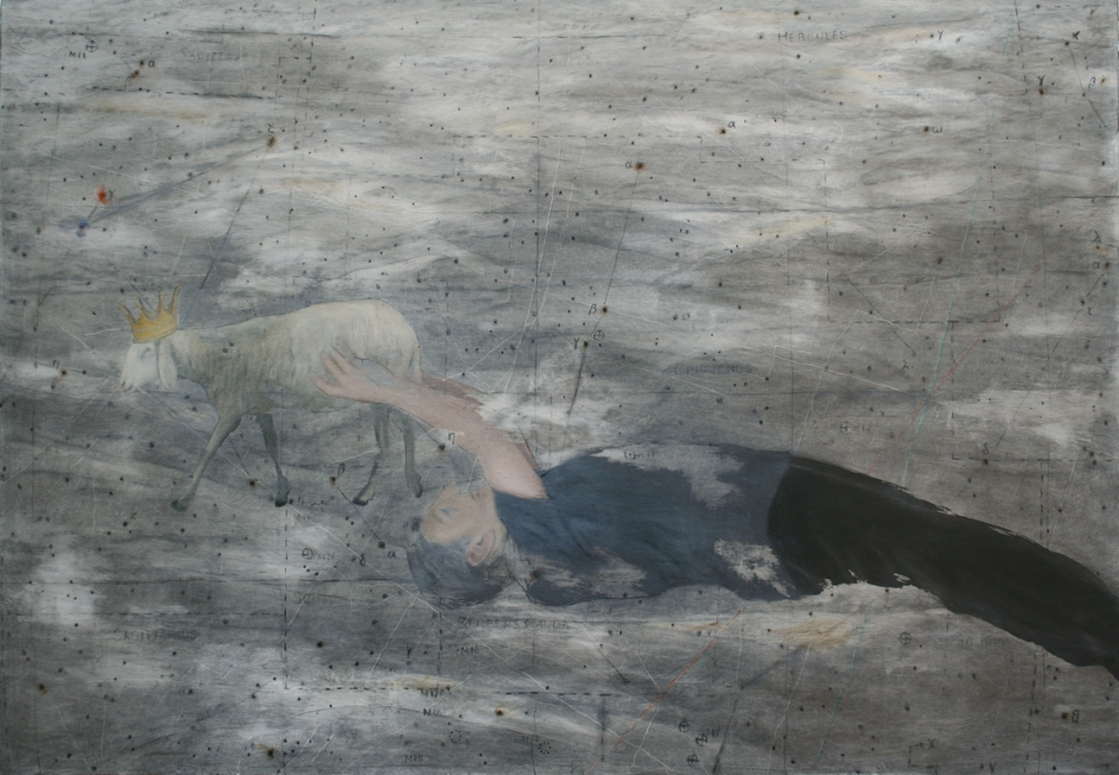 """Katéchon 5"", 2014, 70 x 100 cm, olio su tela"