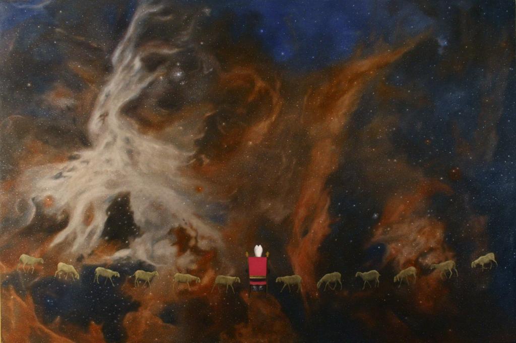 """Antikeìmenos"", 2015, 200 x 300 cm, olio su tela"