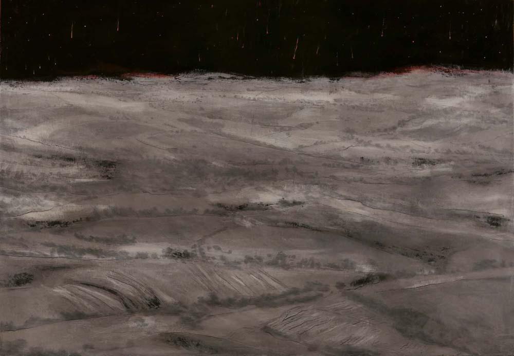 Paesaggio escatologico 6, 2015, 70x100 cm, olio su tela
