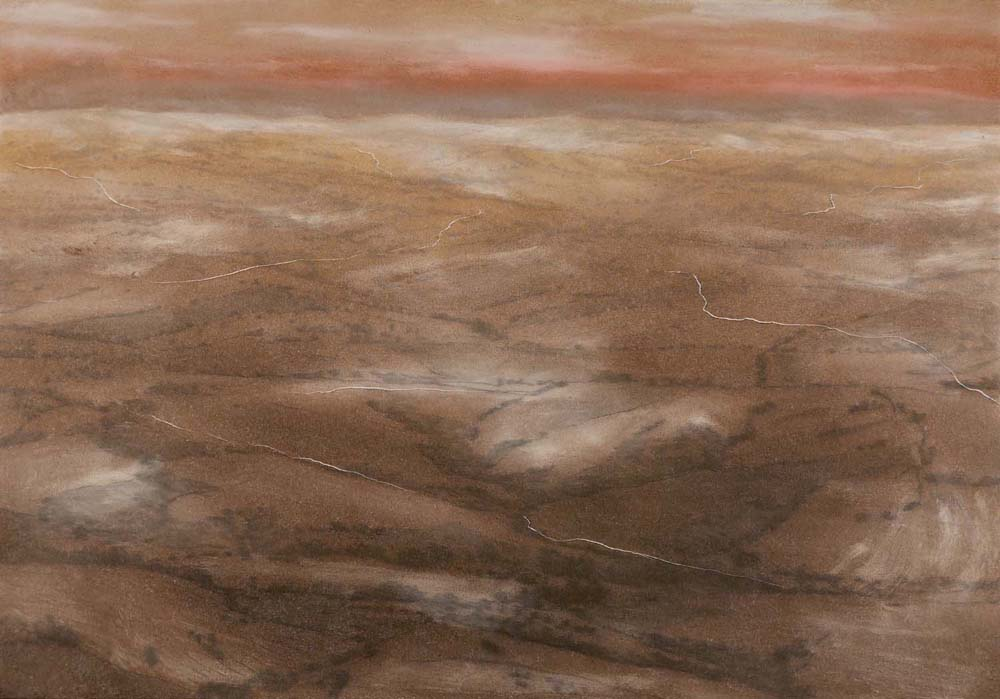 Paesaggio escatologico 7, 2015, 70x100 cm, olio su tela