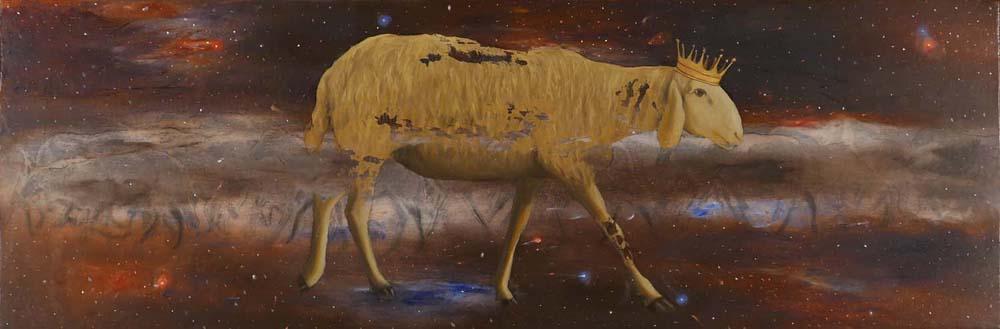 Parusia 10, 2015, 40x120 cm, olio su tela