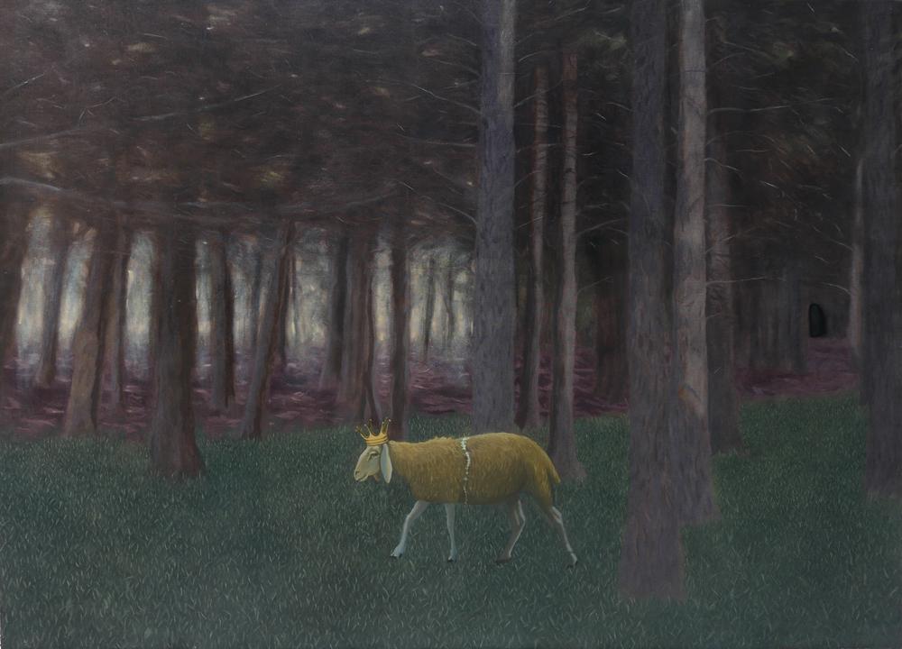 La pecora spezzata, 2016, 130x180 cm, olio su tela